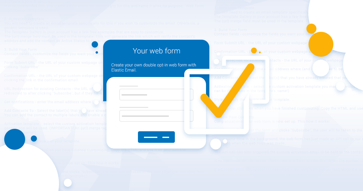 Double opt in web form elastic email maxwellsz