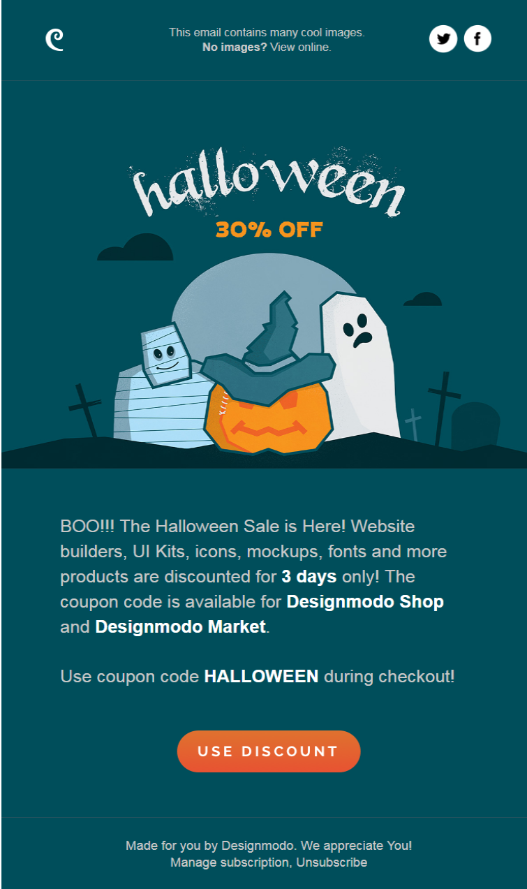 halloween email