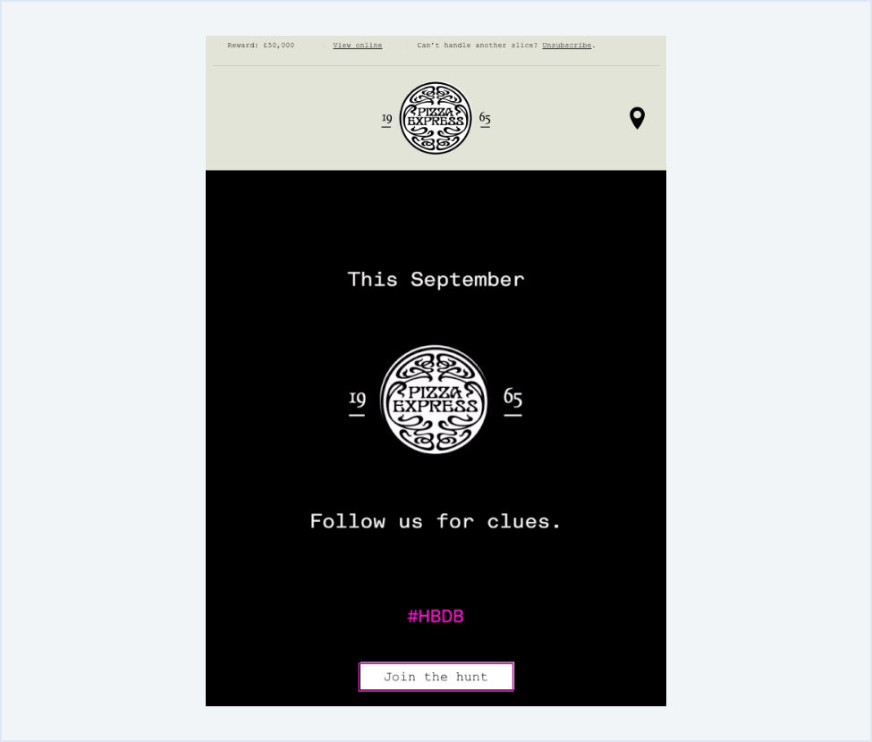 pizza express email campaign