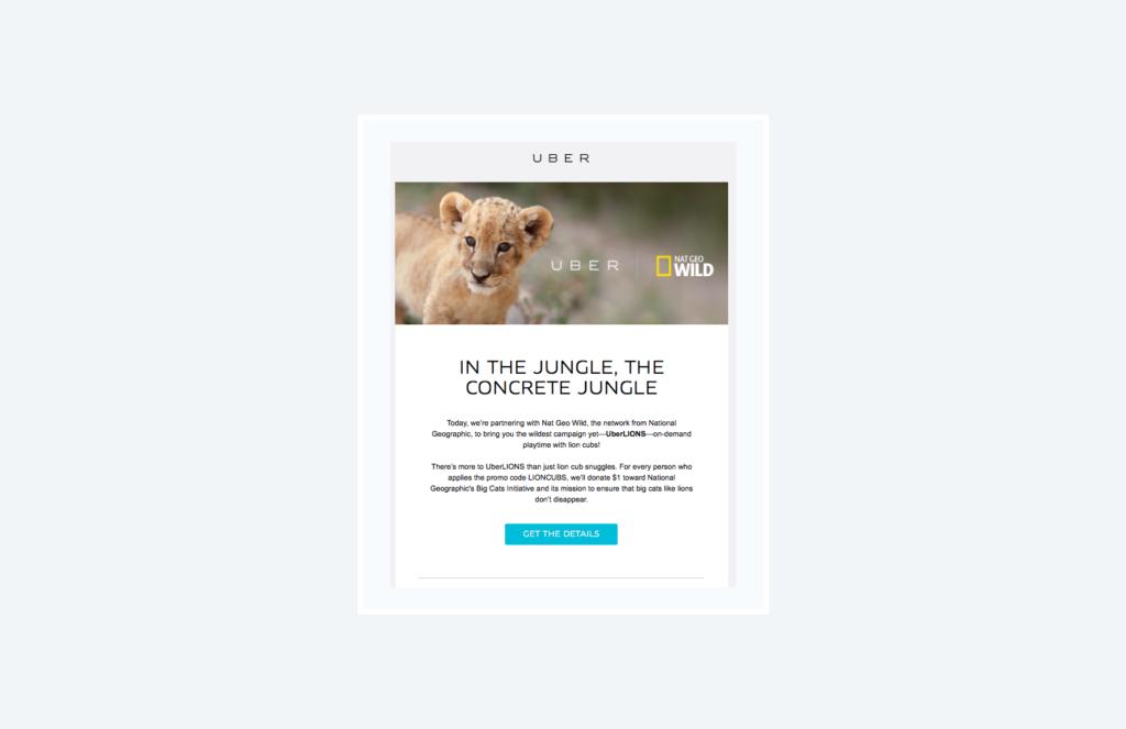 uber lion promotional campaign