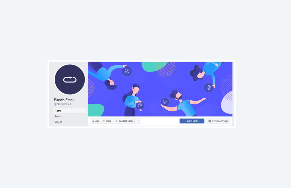 elastic email facebook business page