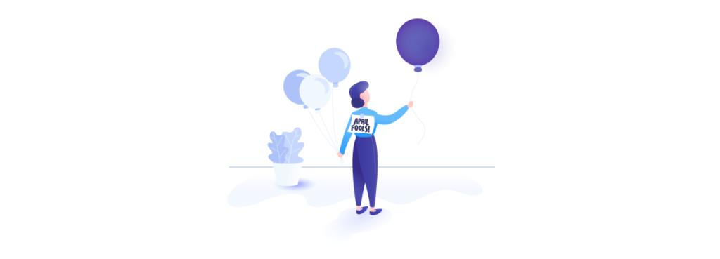 Elastic Email balloon April Fools'