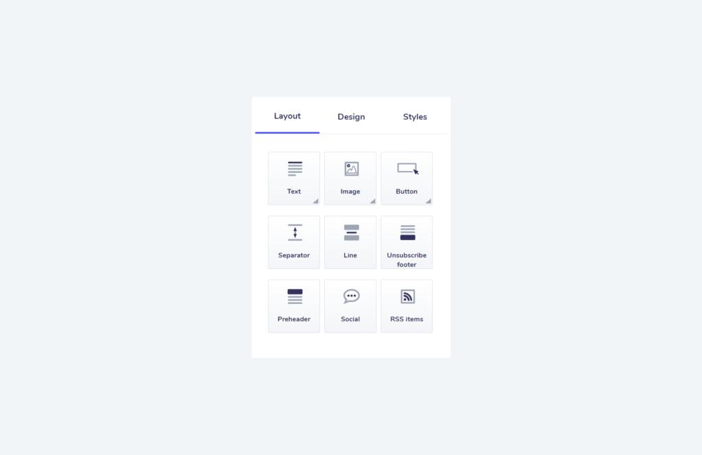 elastic email designer