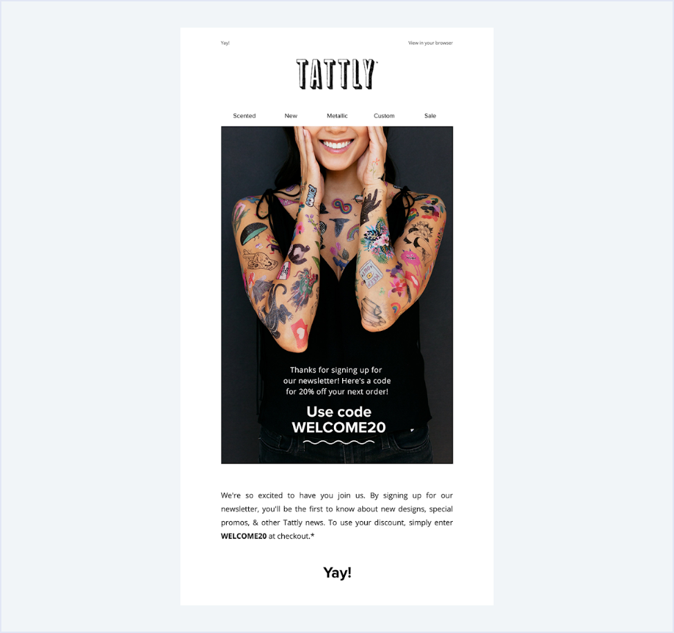 tattly email example