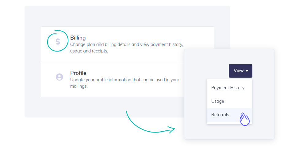access billing and referral feature