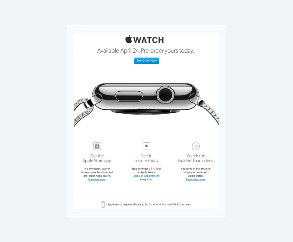 Apple Watch in newsletter campaign
